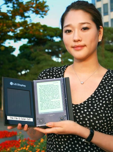 lg e-book электронная книга солнечная батарея