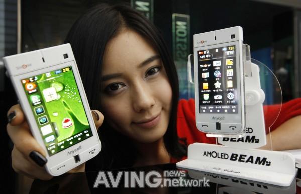 Samsung сенсорный телефон проектор AMOLED Beam SPH-W9600