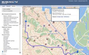 Междворовые проезды в GPS карте Визиком