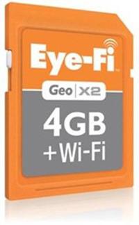 Eye-Fi добавила в свой ассортимент карт памяти новую 4-гигабайтную Geo X2