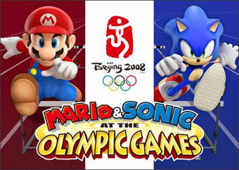Рекламный плакат Mario & Sonic at the Olympic Games