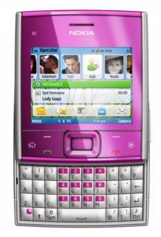 Квадратная Nokia X5 показана в Сингапуре