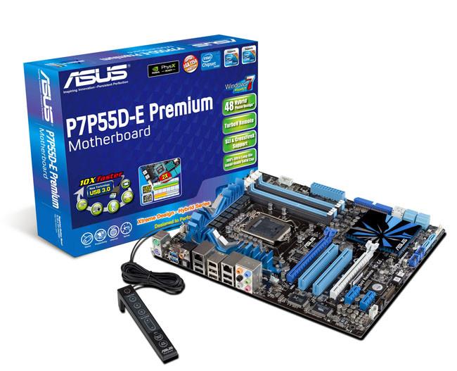 ASUS материнская плата USB 3.0 SATA 6 Гбит/с P7P55D-E