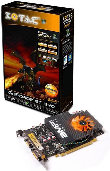 ZOTAC видеокарты GeForce GT 240