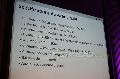 Acer смартфон Liquid Android SnapDragon