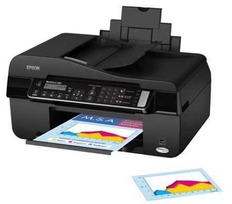 Epson WorkForce 520 – быстрый офисный принтер типа all-in-one