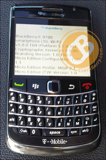 смартфон BlackBerry 9700 T-Mobile 3G