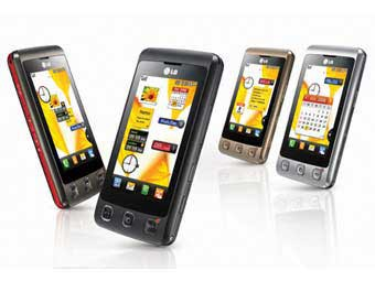LG сенсорный телефон KP500
