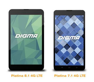 Platina 10.1 4G и Platina 10.2 4G - новые 4G-планшеты Digma