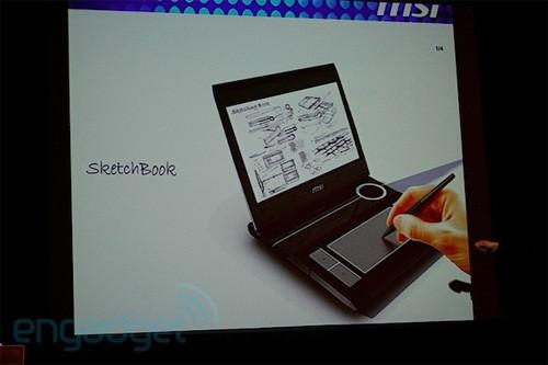 MSI рассказала о концепте нетбука/планшета для художников - SketchBook