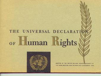 Декларация прав человека. Изображение с сайта aya.yale.edu