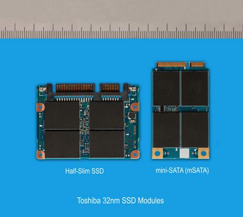 миниатюрные ssd toshiba  32 нм