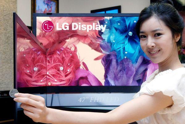 lg lcd жк tv тв панели самые тонкие в мире 42 47 дюйма
