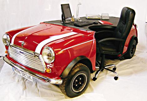 Рабочий стол из автомобиля Mini