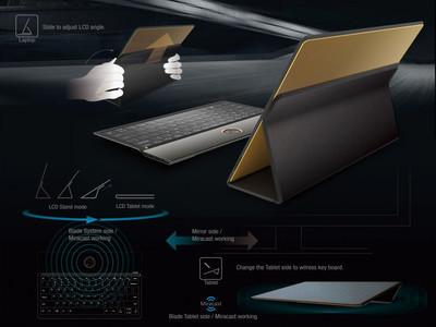 Lenovo Blade: концептуальный автомобиль особенного ноутбука 2-в-1