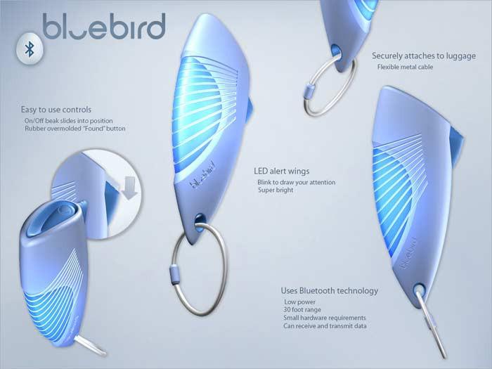 Bluebird - Bluetooth-метка для чемодана