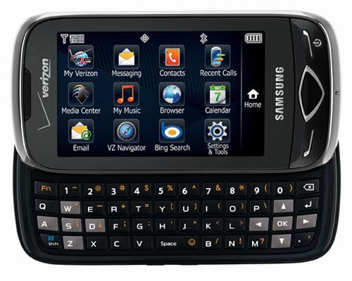 QWERTY-телефон Samsung Reality будет продаваться в сети оператора Verizon